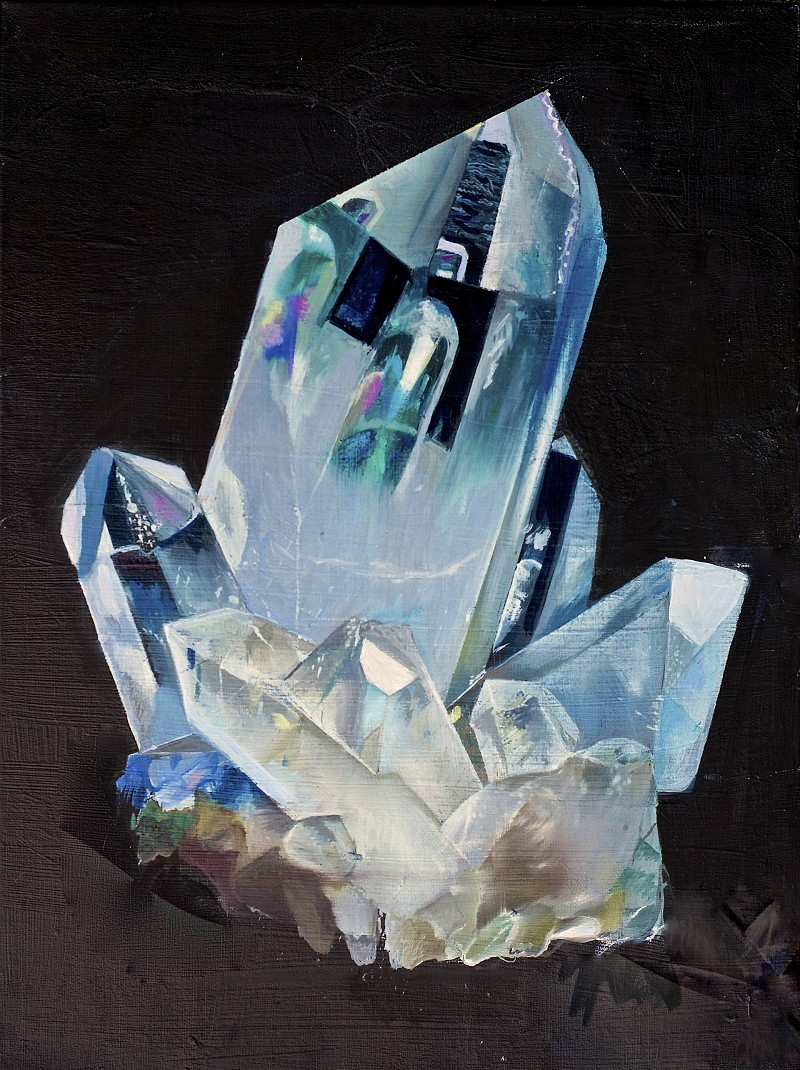 Quartz crystal painting by Daisy Clarke
